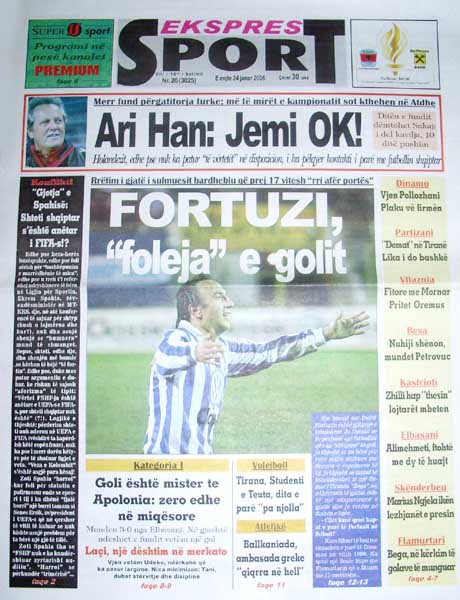nje gazete sportive shqiptare